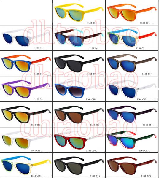 estate uomini popolari occhiali da sole colorati occhiali sportivi donne Ciclismo all'aperto occhiali da sole piazza telaio occhiali da equitazione 20 colori spedizione gratuita