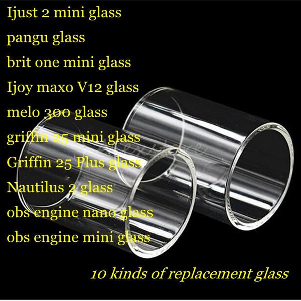 Мне 2 мини-Паньгу брит один Ijoy maxo В12 Мело 300 Гриффин 25 плюс Наутилус 2 обс двигателя нано танк рта из термостойкого замена стеклянной трубки