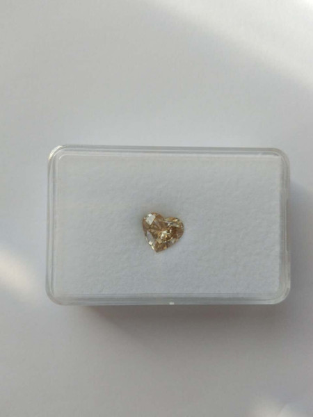 Canary Yellow Moissanite Loose Stones Heart Shape 10mm VS1 Gem Stone Beads Test Positive