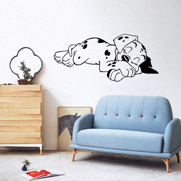 Cool Graphics Sleeping Dog Silhouette Pattern Suitable For Bedroom Personality Style Art Decor Vinyl Wall Stickers Diy