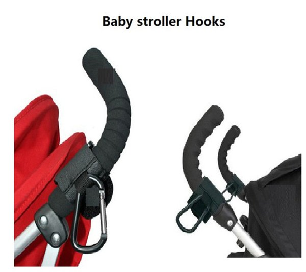 Black Baby Products Baby Car Carriage Stroller Hook Clips Accessory High Quality Aluminum Pram Hooks Also Good For Outdoor Use b1160