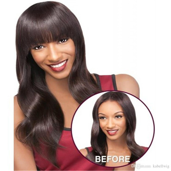 Luxurious full lace wig silk 5.5 *5.5 Base Full Lace Wig Straight Brazilian Remy Human Hair For Black Women Color Dark Brown straight hair