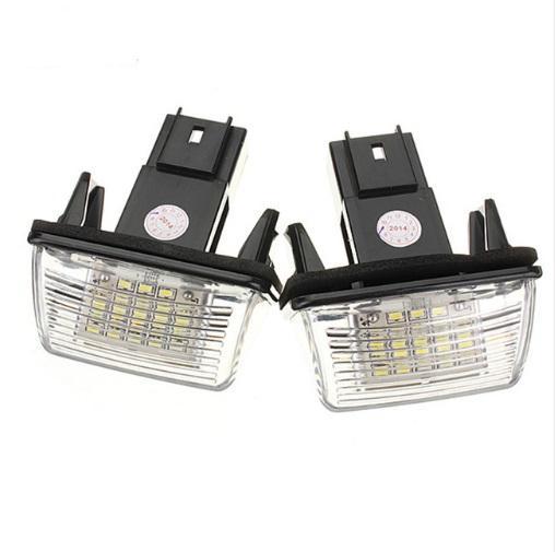2 Pz 12 V 18 LED Numero di Targa Lampadine Lampadine Lampada Per Peugeut 206 207 306 CITROEN C3 C4 5 XSARA Errore Gratuito