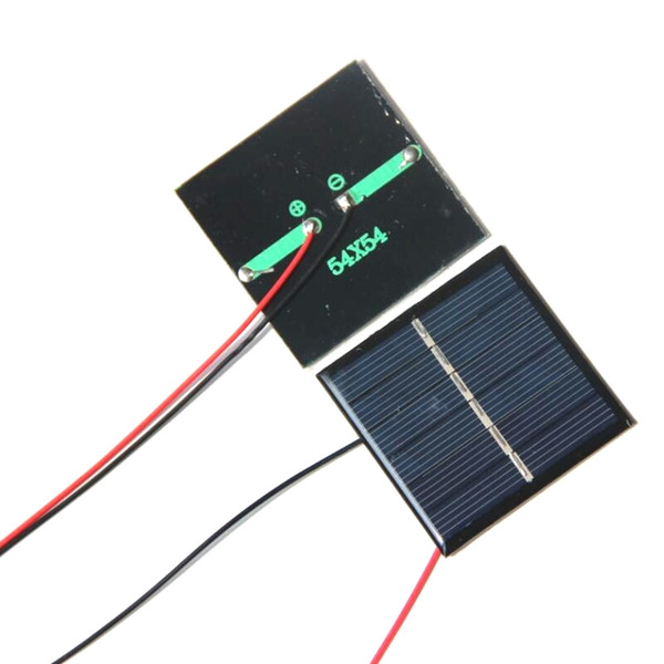 BUHESHUI Epoxy 0.42W 3V Solar Cell+Wire/Cable Solar Panel Module DIY Solar Charger For 2.4V Education 54*54*3MM Free Shipping