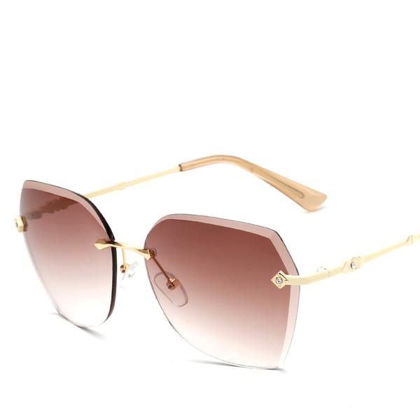 Hot Girls Sunglasses Borderless Hd Anti Uv Sunglasses Classic ...