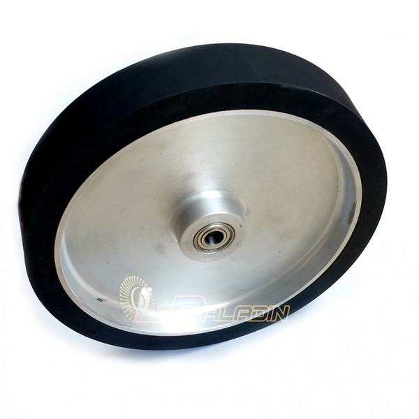 300*50*25mm Solid Rubber Polishing Wheel Belt Grinder Contact Wheel