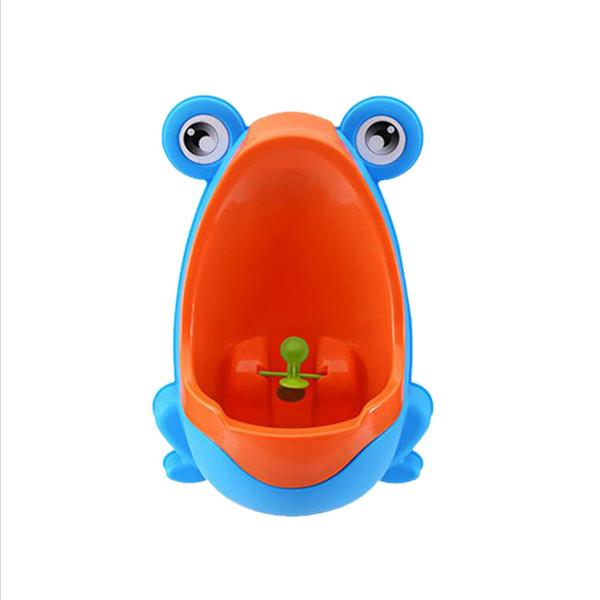Bunte Frosch-Jungen-Töpfchen-Ausbildungs-Toiletten-vertikale an der Wand befestigte Töpfchen-Nut mit wirbelndem Ziel für Kinderbaby