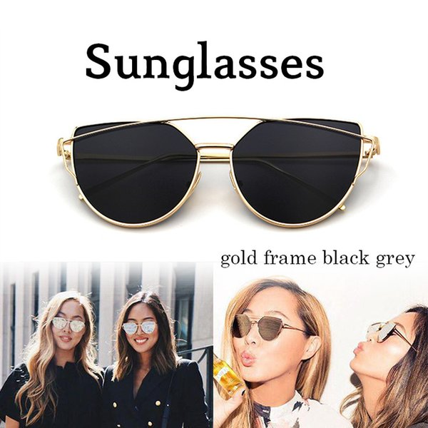 0a11c1f64891 Vintage Lady Rose Gold Cat Eye Sunglasses Women Brand Design Twin-Beams  Optical Eyeglasses Frame