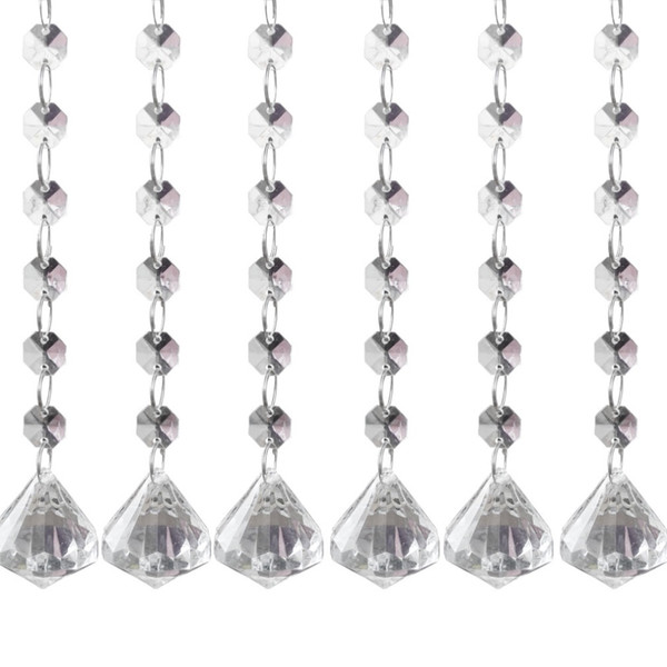 1611 free shipping 24 strands Acrylic Crystal Clear Acrylic Crystal Garland Hanging Bead Chains wedding party home decor