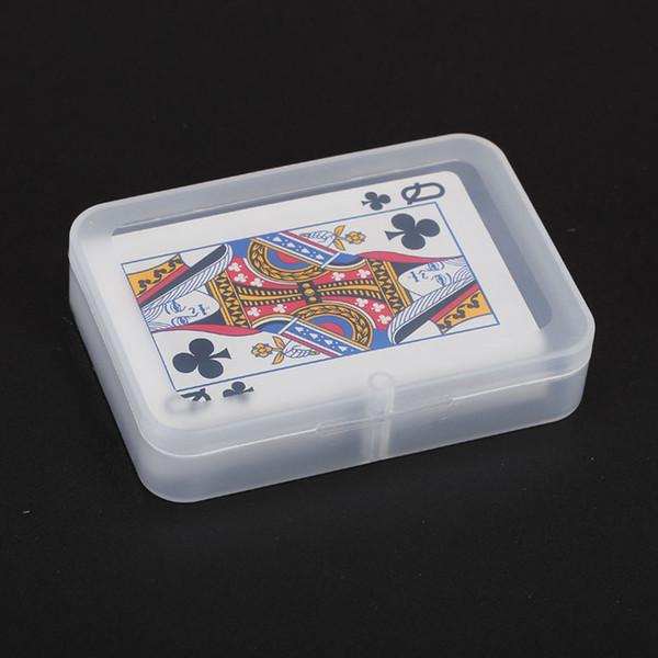 Hochwertige transparente Spielkarten Kunststoffbox PP Aufbewahrungsboxen Verpackung Fall (Kartenbreite weniger als 6 cm) ZA4345