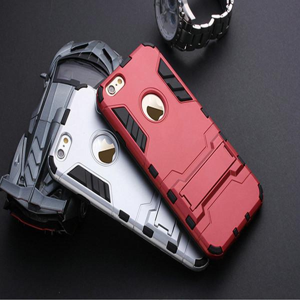 Para iphone 7 7 plus 6 6 s plus 5 5S SE 5C Kickstand Híbrido Armadura De Borracha PC Duro + TPU Suporte Função Capa Casos