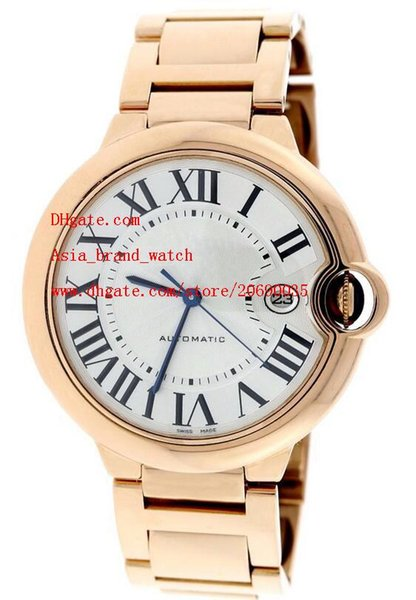 Factory Supplier AAA alibre Automatic 42mm White Dial Ref W69004Z2 Rose Gold Men's Watch Watches top brand wristwatches