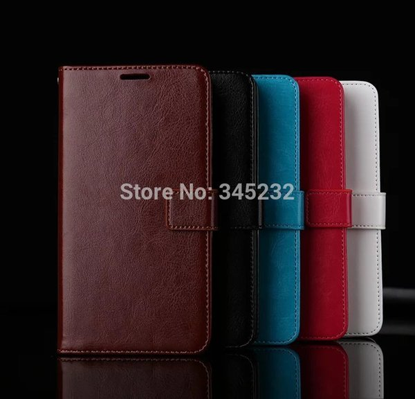 10pcs/lot free shipping Book Style Crazy Horse Lines Leather Wallet Case For iphone 4s/5s/6G/6G PLUS/7/7 PLUS