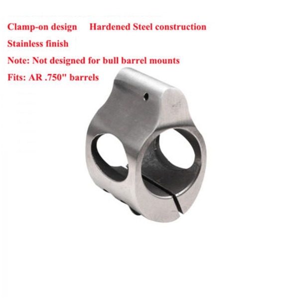 CNC Stainless Steel Low Micro .223 Gas Block Roll Pin .750 Fits Inside Under Quad Rail