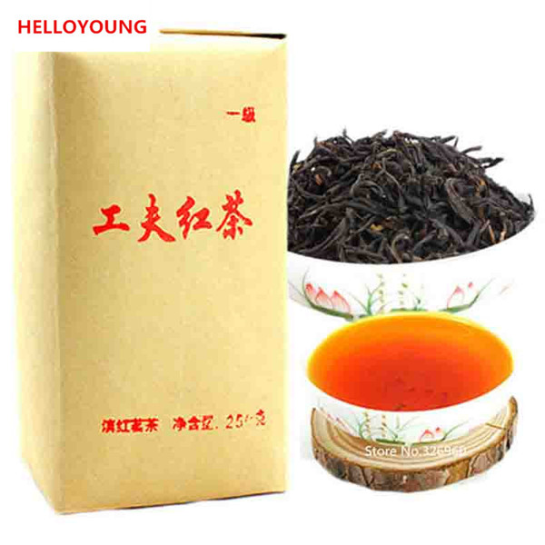 c-hc038 premium dian hong 250g, famous yunnan black tea gongfu dianhong organic tea warm stomach the chinese tea