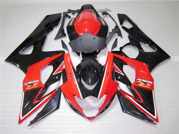 ABS Plastic Injection Fairing Bodywork for 2005-2006 Suzuki GSXR1000 Black Red