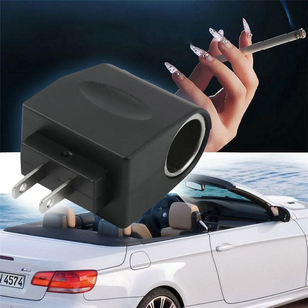 110V CA Toma de corriente a 12V CC Adaptador de encendedor de cigarrillos AC a DC Convertidor EE. UU. EE.