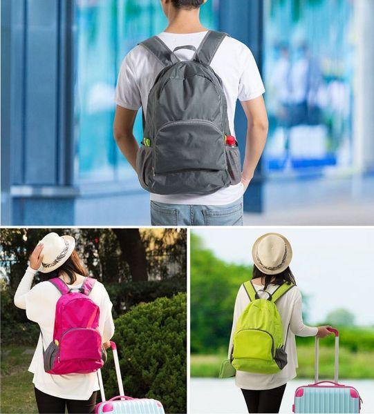 High Quality Lightweight Foldable Waterproof Nylon Women Men Children Skin Pack Backpack Travel Outdoor Sports Camping Hiking Bag Rucksack