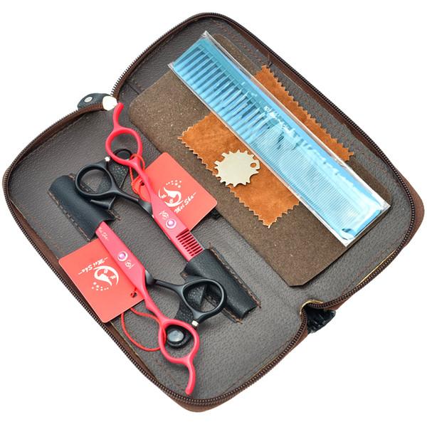 6.0Inch Meisha Hot Selling Left Hand Hair Scissors Set Japan 440c Shears Salon Cutting Thinning Scissors Barber Hairdresser Razor, HA0128