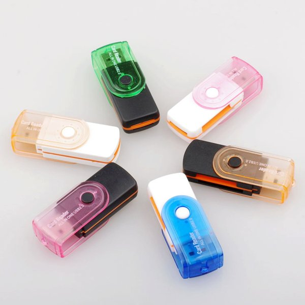 High Quality All in 1 USB 2.0 adapter connector micro SD TF M2 memory stick memory reader