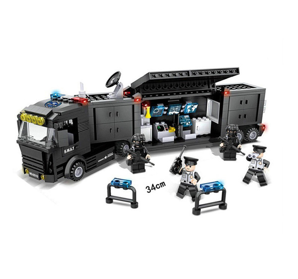 top popular LNL 418pcs Special Police Toy Splicing Building Blocks for Kids Boys Gift (Hands-on Ability) 2021