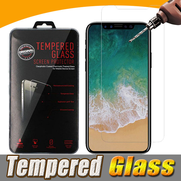 Tempered Glass Screen Protector Film Guard 9H Scratch Resistant For iPhone XS Max XR X 8 Plus 7 6 Samsung Galaxy S9 Note A5 A6 A7 A8 A9 Pro