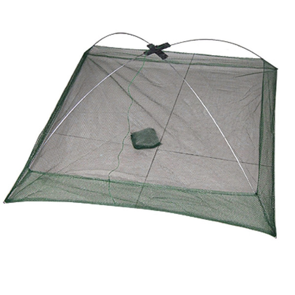 Good deal New 76 x 76 cm Umbrella Design Crab Trap Cast Lures Fishing Dip Net Green hot sell