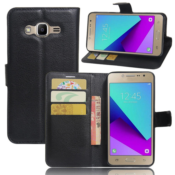 Diforate New Arrival Luxury Leather Wallet Phone Flip Cover Pouch Case For Samsung J2 Prime Galaxy Grand Prime (2016)