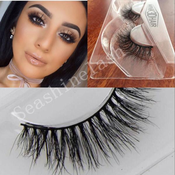 2Pairs Lot new Handmade Crisscross False Eyelashes 3D Mink Lashes Voluminous Eyelashes for make up beauty