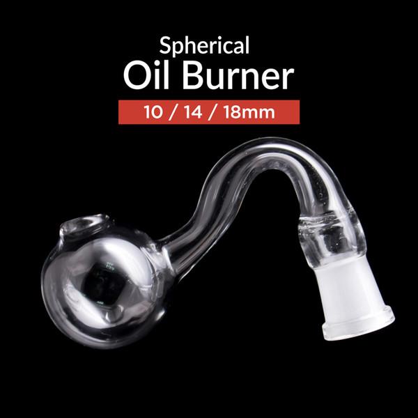 Bruciatore a gasolio in vetro curvato per tubi di acqua Tubo di tabacco e tubi di tabacco da fumo con tubo manuale economico comune 10/14 / 18mm