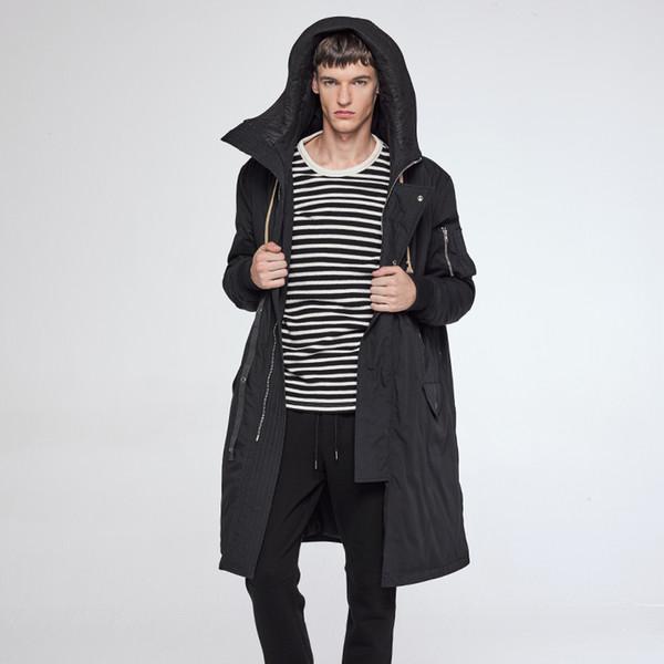 VIISHOW Long Winter Jacket Men Brand Clothing Male Cotton Autumn Coat New Top Quality Black Down Parkas Men MC37664