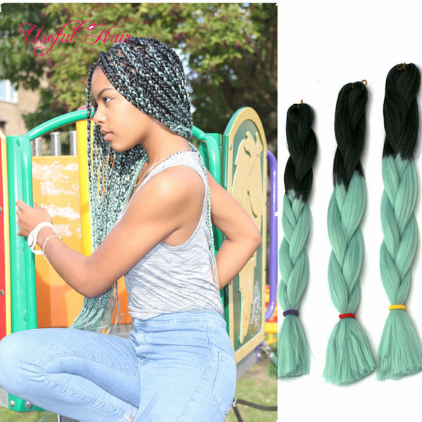 croceht hooks for braided hiar 24inch Ombre color JUMBO BRAIDS extensiones de cabello SYNTHETIC braiding hair extensions crochet braids hair