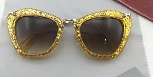Noir GLITTER das mulheres do desenhista mel ouro mármore óculos de sol 10N Gradiente Marrom De Cristal Borboleta Eyewear Novo Com Caso