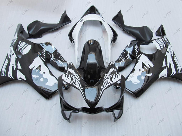 Body Kit CBR600 F4i 06 07 Kit carenatura per Honda Cbr600 2004 Nero Bianco GIRL ABS Carena CBR F4i 2006 2003 - 2007