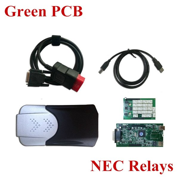 top popular Wholesale- N-ec Relay Green PCB board TCS CDP+ Pro without Bluetooth cars & Trucks Diagnostic tool 2015.1 or 2014.3 optional 2019