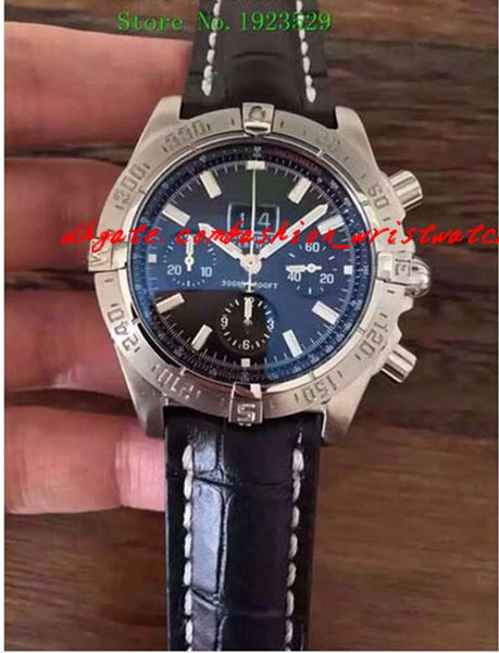 Luxury Watches Wristwatch BRAND NEW MENS 1 Motors Stainless Steel Neptune Blue Dial A44362 men watch