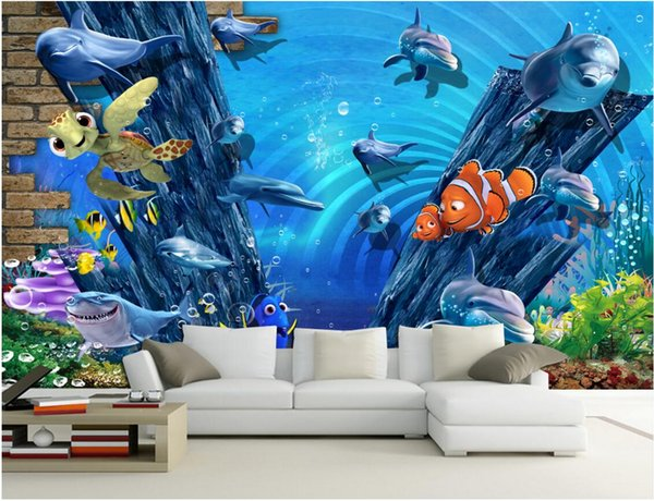 3d Room Wallpaper Custom Photo Non Woven Mural The Worlds Sea Fish Decoration Painting Picture 3d Wall Murals Wallpaper For Walls 3 D Free Wallpapers