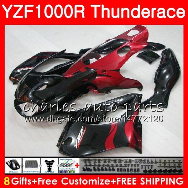 Corpo per YAMAHA Thunderace YZF1000R 96 97 98 99 00 01 07 TOP red fames 84NO17 YZF-1000R YZF 1000R 1996 1997 1998 1999 2000 2001 2007 Carenatura