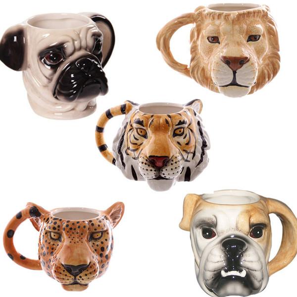 L'alta qualità creativa del fumetto animale personalità tazza di ceramica per cani tazze Nizza Stereo Head Cup IC604