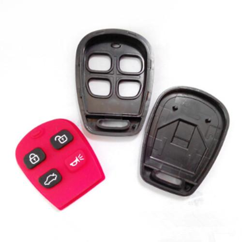 New car replacement key shell FOB key cover for KIA 4 buttons remote key blank case free shipping