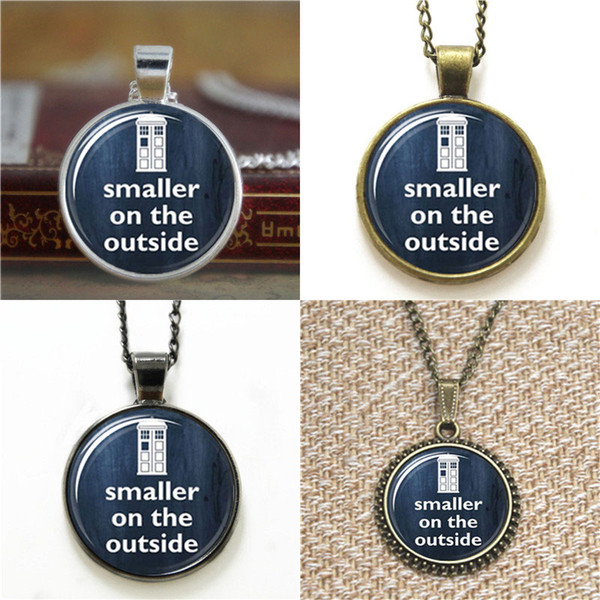 10pcs Smaller on the Outside Doctor Who Tardis Whovian Glass Photo Cabochon Necklace keyring bookmark cufflink earring bracelet