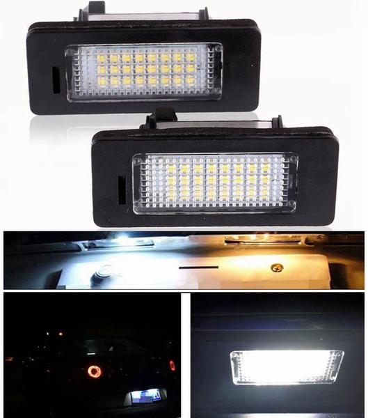 2pcs/set Error Free Car Led License Plate Led Light Lamp 12v White 6000K For BMW E39 E60 E82 E90 E92 E93 M3 E39 E60 E70 X5 E60 E61 M5 E88
