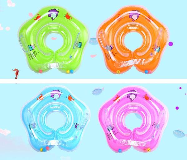 Nuovi accessori per il nuoto per neonati anello per il collo dell'anello del tubo del bambino Anello di sicurezza per il nuoto del collo infantile per il bagno Gonfiabile Goccia più recente