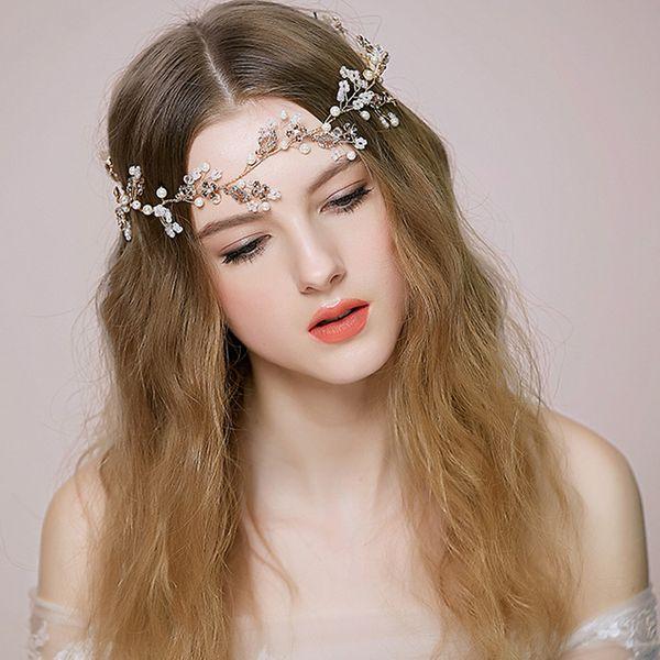 Fashion Spring Headpiece Wedding Hair Accessories Special Occasion Headbands Bridal Headband Tiara Headwear Bridal Crown Headband