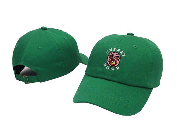 2016 RARES Golf Wang Cherry Bomb Baseball Cap Yeezus Strapback snapback Cap casquette gorras 6 panel hat Travis Scotts rodeo cap