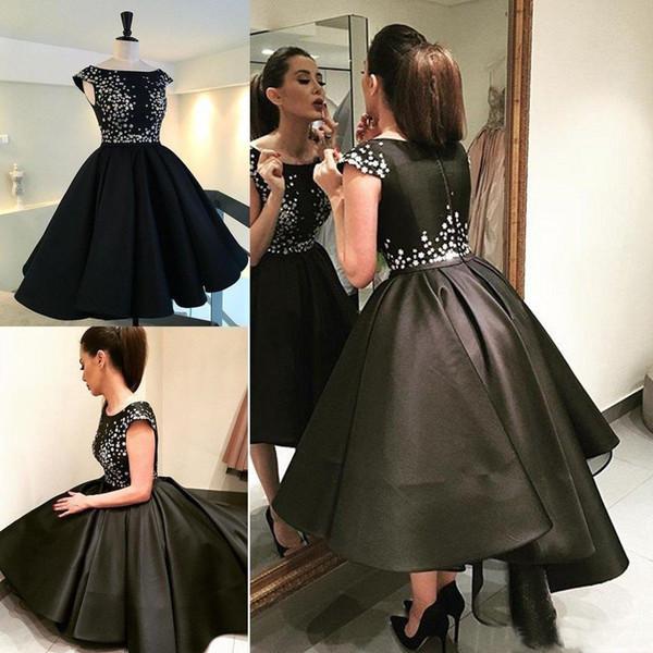 Puffy Black Prom Dresses