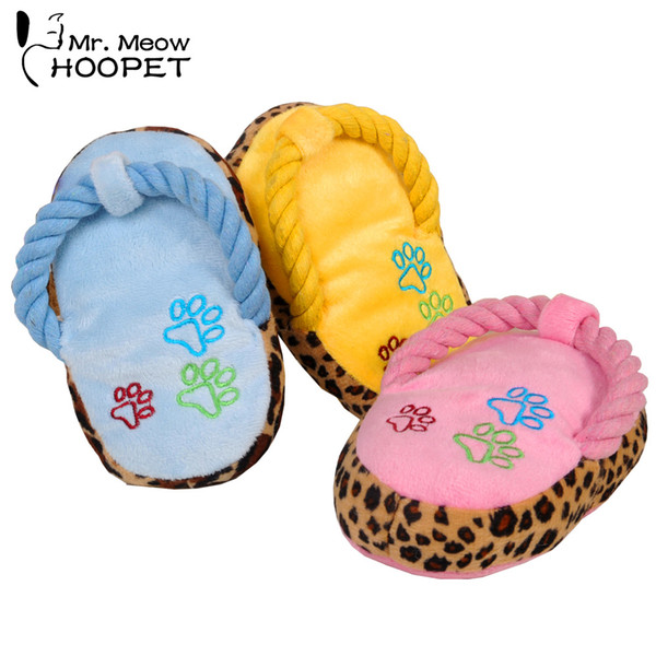 Lovely Dogs Toy Pet Puppy Chew Play Cute Plush Slipper Shape Squeaky Toys for Dog Pets Supplies Factory Direct