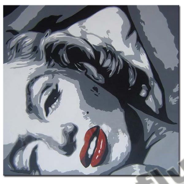 Framed, MARILYN MONROE Portrait , Large High Quality Pure Handpainted Wall Decor Art Oil Painting Canvas Multi Sizes can be customized R69