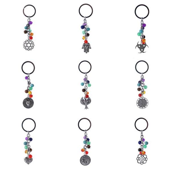 Heißer Verkauf neues Schlüsselkettenlebenbaum-Eulenpfirsichherz und anderer Schlüsselring KR342 Keychains mischen Auftrag 20 Stücke viel