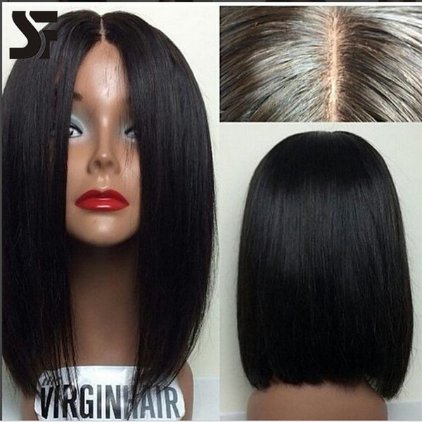 SF Lace Wig With Pre-Plucked High Quality Brazilian Virgin Hair Full Lace Wig With Baby Hair Unprocessed Lace Front Wig Human Hair Bob Wigs